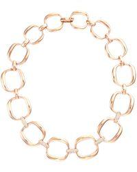 Roberto Coin - 'oro Classic' Diamond 18k Rose Gold Chain Necklace - Lyst