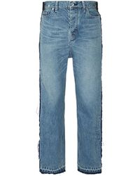 Sacai - Colourblock Panelled Outseam Jeans - Lyst