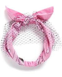 Piers Atkinson - Swarovski Crystal Veil Bandana Headband - Lyst