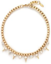 Joomi Lim - 'screw U' Swarovski Crystal Pearl Box Chain Necklace - Lyst