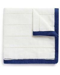 Lardini - Ladder Stitch Trim Pocket Square - Lyst