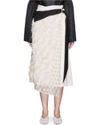 Mame - Fringe Fil Coupé Belted Wrap Dress - Lyst