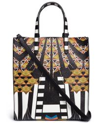 Givenchy - Stargate Small Egyptian-Print Leather Tote - Lyst