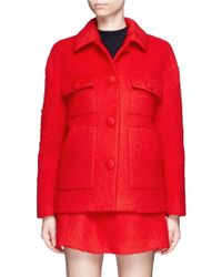 Chictopia - Brushed Wool Blend Coat - Lyst