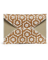 Mischa - Hexagon Print Coated Canvas Envelope Cardholder - Lyst