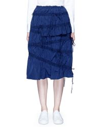 Angel Chen - Drawsing Gathered Midi Skirt - Lyst
