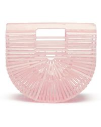 Cult Gaia - 'acrylic Ark' Mini Caged Saddle Bag - Lyst