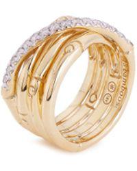 John Hardy - 'bamboo' Diamond 18k Yellow Gold Ring - Lyst