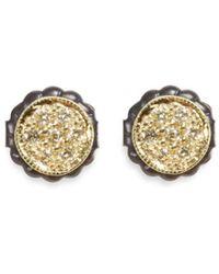 Ila & I - 'petite Zahia' Diamond 14k Gold Round Stud Earrings - Lyst