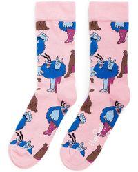 Happy Socks   X The Beatles Blue Meanie Socks   Lyst