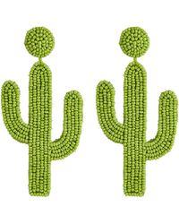 Kate Spade Cactus Statement Earrings Lyst