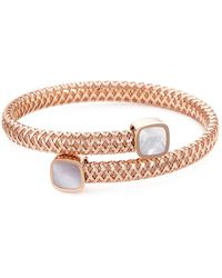 Roberto Coin | 'primavera' Mother Of Pearl 18k Rose Gold Bangle | Lyst
