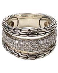 John Hardy - Diamond Silver Ring - Lyst