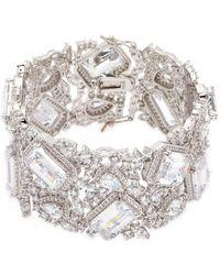 CZ by Kenneth Jay Lane | Cubic Zirconia Openwork Bracelet | Lyst