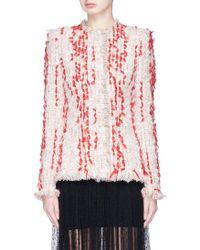 Alexander McQueen | Frayed Tweed Jacket | Lyst