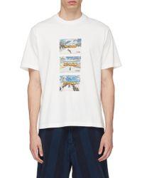 Sunnei - 'fast Fashion' Graphic Print T-shirt - Lyst