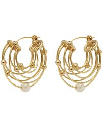 Ellery - 'classical Scaffolding' Baroque Pearl Hoop Earrings - Lyst