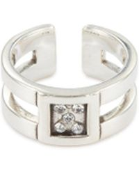 Philippe Audibert - 'doan' Swarovski Crystal Cut-out Open Ring - Lyst