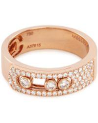 Messika - 'move Noa Pavé' Diamond 18k Rose Gold Ring - Lyst