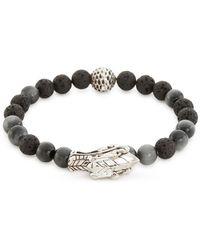 John Hardy - Sapphire Volcanic Bead Silver Naga Bracelet - Lyst