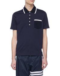 Thom Browne - Colourblock Polo Shirt - Lyst