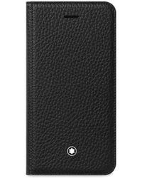 Montblanc - Flipside Leather Iphone 8 Case - Lyst