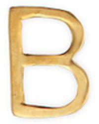 Loquet London - 18k Yellow Gold Letter Charm – B - Lyst