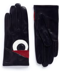 Maison Fabre - 'volatile' Eye Patch Lambskin Leather Gloves - Lyst
