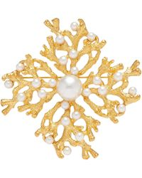 Kenneth Jay Lane - Glass Pearl Branch Brooch - Lyst