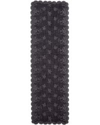 Franco Ferrari - Floral Lace Embroidered Cashmere Blend Scarf - Lyst