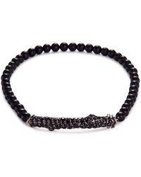 Stephen Webster | 'thorn' Sapphire Onyx Bead Rhodium Silver Bracelet | Lyst