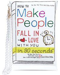 Cecilia Ma   'fall In Love' Slogan Faux Leather Clutch   Lyst