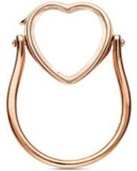 Loquet London - 14k Rose Gold Heart Locket Ring - Medium 15mm - Lyst
