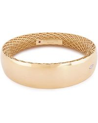 Roberto Coin - 'golden Gate' Diamond 18k White And Yellow Gold Bangle - Lyst