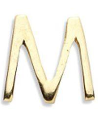 Loquet London - 18k Yellow Gold Letter Charm - M - Lyst