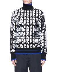 Tim Coppens - 'acid' Jacquard Wool Turtleneck Jumper - Lyst