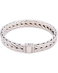 John Hardy - Silver Weave Effect Link Chain Bracelet - Lyst