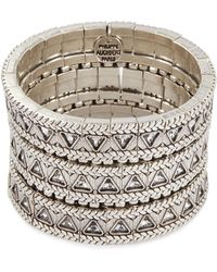Philippe Audibert - 'clemence' Swarovski Crystal Braid Effect Three Row Elastic Bracelet - Lyst