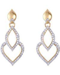John Hardy - Diamond 18k Yellow Gold Naga Hoop Drop Earrings - Lyst