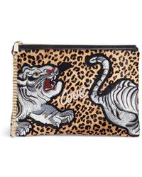 Venna - Tiger Patch Leopard Print Hair Clutch - Lyst