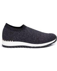 Pedder Red - 'dara' Faux Pearl Lurex Knit Sock Trainers - Lyst