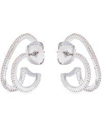 CZ by Kenneth Jay Lane - Cubic Zirconia Double Hoop Earrings - Lyst