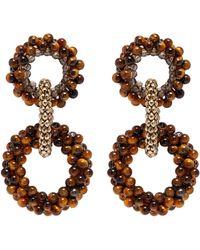 Rosantica - 'carrarmato' Beaded Interlocking Hoop Earrings - Lyst