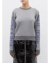 Rag & Bone - 'new York' Logo Slogan Print Sweatshirt - Lyst