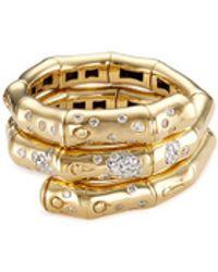 john hardy diamond 18k yellow gold coil ring lyst