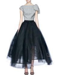 Oscar de la Renta - Logo Embroidered Flared Tulle Petticoat Skirt - Lyst