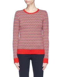 Perfect Moment - 'frequency' Stripe Extra Fine Merino Wool Sweater - Lyst