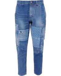 FDMTL - Sashiko Boro Patchwork Distressed Jeans - Lyst
