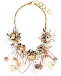 Erickson Beamon - 'enchanted World' Glass Crystal Seashell Bead Bib Necklace - Lyst