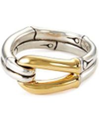 John Hardy - 18k Yellow Gold Silver Bamboo Hook Ring - Lyst